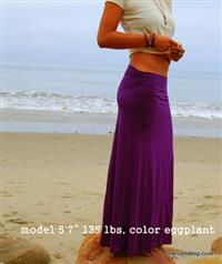 Eco Green Bamboo Maxi Skirt