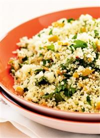 Lemon, olive and parsley couscous recipe