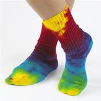 Organic Cotton Bold Tie Dye Crew Eco Socks