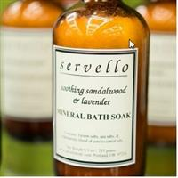 Servello Organic Sandalwood & Lavender Mineral Bath Soak